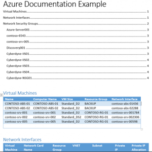 Document Azure subscription with PowerShell